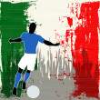 Stock Vector: Football Italy