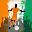 Football Ivory Coast — Stock Vector