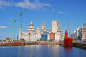 Liverpool Docks — Stock Photo
