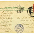 Old Vintage 1912 Postcard with Chinese Stamp — Stock Photo
