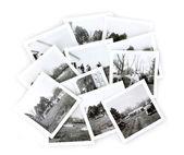 старинные черно-белые фотографии коллаж — Стоковое фото
