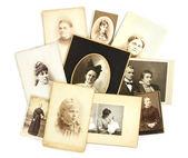 在白色背景上的古董照片拼贴画 — 图库照片
