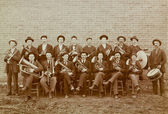 Marching Band from Kansas Vintage 1918 Photo — Stock Photo