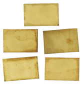 5 Old Dirty Grungy Paper Background Textures — Stock Photo