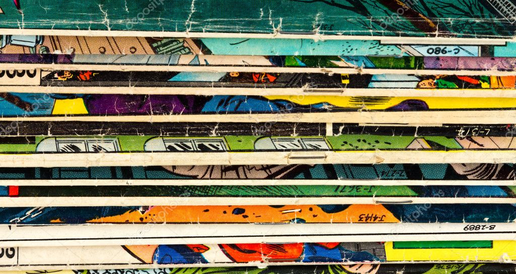 Comic Book Texture Background Old Comic Book Paper