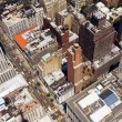 Stock Photo: Downtown City Street Birds Eye View New York