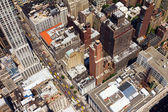 Downtown City Street Birds Eye View New York — Stock Photo