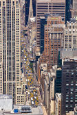 Taxi Cabs and Cars on a New York Street — Stock Photo