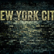 New York City Grungy Brick Wall - Stock Photo