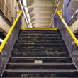 Stairs Exiting Subway Station - Stock Photo