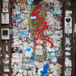 Grungy Graffiti Covered Doorway New York City - Foto de Stock