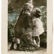 Vintage Postcard Young Kids in Love — Stock Photo