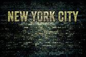 New York City Grungy Brick Wall — Stock Photo