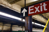Subway Exit Sign New York — Stock Photo