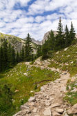 Hiking Trail Through Mountains — Stock Photo