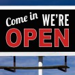 Stock Photo: Open Billboard Sign