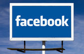 Facebook Logo Billboard Sign — Stock Photo