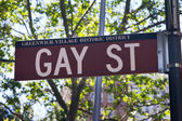 Gay Street Sign New York City — Stock Photo