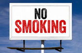 No Smoking Billboard Sign — Stock Photo