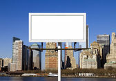 Billboard Sign Against New York City Background — Stock Photo