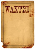 Blood Stained Wanted Poster 1800s Wild West — Stock Photo