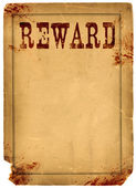 Blood Stained Reward Poster 1800s Wild West — Stock Photo