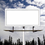 Blank Billboard Against Blue Sky Background — Stock Photo