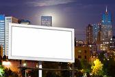 Blank Billboard Advertising Sign in Urban Cityscape — Stock Photo