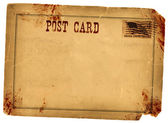 Blood Stained Vintage Postcard — Stock Photo