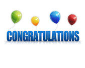 Congratulations Balloons 3D Background — Stok fotoğraf