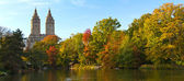 Fall Colors in Central Park, New York City — 图库照片
