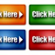 Set of Colorful Click Here Web Buttons — Stock Photo #36775585