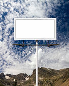 Blank Billboard Sign in the Mountains — Stock fotografie