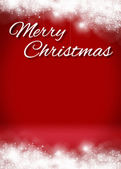 Snowy Merry Christmas 3D Card Background Stage — Foto de Stock