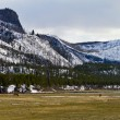 Yellowstone National Park Panoramic Landscape — Stock Photo
