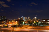 Downtown Denver Colorado at Night — Stock Photo