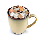 Cup of Coins — Stock Photo