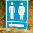 Stock Photo: Male and female toilets sign.