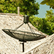 Stock Photo: Satellite dish on the roof.
