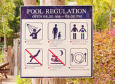 Pool regulation plate. — Stock Photo