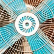 Electric fan. - Stock Photo