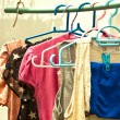 Stock Photo: Clothesline.