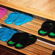 Stockfoto: Shoe racks.