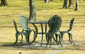 Garden Table and Chairs — Stock Photo