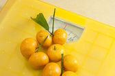 Weighting scales yellow — Stock Photo