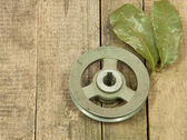 Old metal pulley — Stock Photo