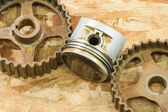 Rusty gears — Stock Photo