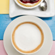 Coffee and dessert — Stock Photo