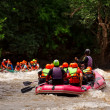 Rafting in river of northern Thailand - Stock Photo