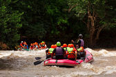 Rafting in river of northern Thailand — Stock Photo